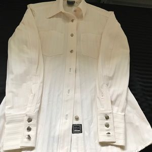 VERSACE button up Long sleeve shirt'